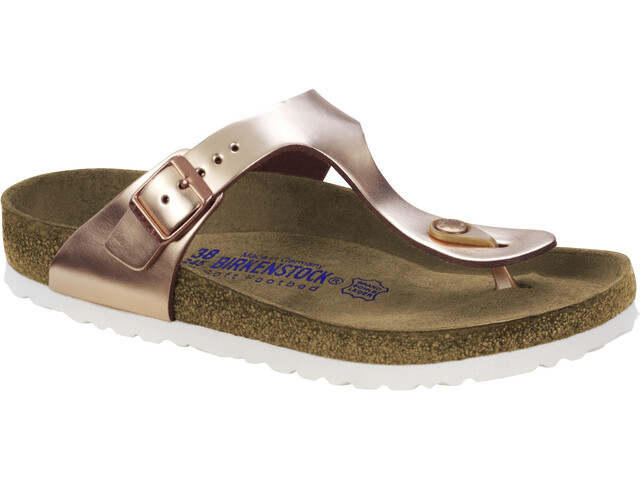 Birkenstock Gizeh Soft Footbed Sandales, metallic copper